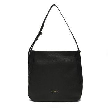 COCCINELLE Lea Line – Black Leather Hobo Bag