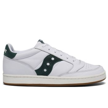 Saucony Jazz Court Line – White and Green Sneakers