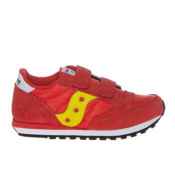 Saucony Jazz Double Hook & Look Kids Line – Red - Yellow Sneakers