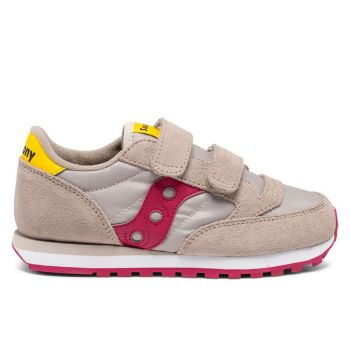 Saucony Sneakers Jazz Double HL Kids Line – Taupe/Burgundy Sneakers