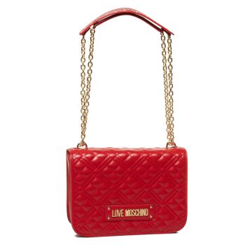 LOVE MOSCHINO Quilted - Red Crossbody Bag