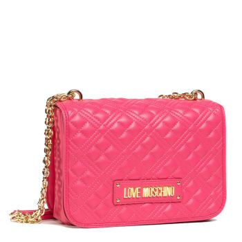 LOVE MOSCHINO New Shiny Quilted Line – Pink Shoulder Bag JC4000