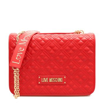 LOVE MOSCHINO New Shiny Quilted - Red Double Function Bag