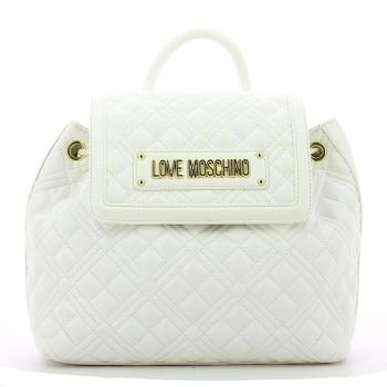 LOVE MOSCHINO New Shiny Quilted Line – White Backpack