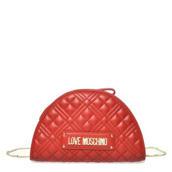 LOVE MOSCHINO New Shiny Line – Red Clutch with Quilted Effect