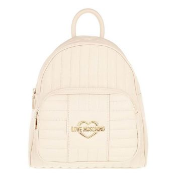 LOVE MOSCHINO Ivory Backpack with Quilted Effect