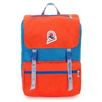 INVICTA Jolly Vintage Line - Blue and Orange Fabric Unisex Backpack