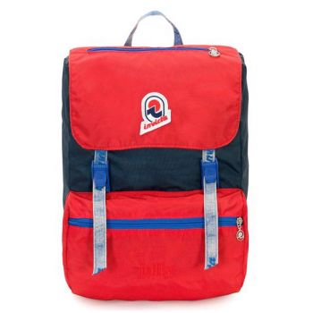 INVICTA Jolly Vintage Line - Blue and Red Fabric Unisex Backpack