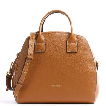 COCCINELLE Ela Journal Line – Maxi Caramel Handle Bag