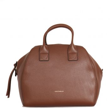 COCCINELLE Ela Journal Line – Maxi Moka Handle Bag Made in Italy