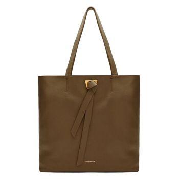 COCCINELLE Joy Line – Moss Green Leather Shoulder Bag
