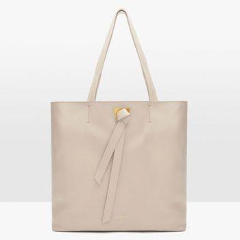 COCCINELLE Joy Line – Lambskin White Leather Shoulder Bag