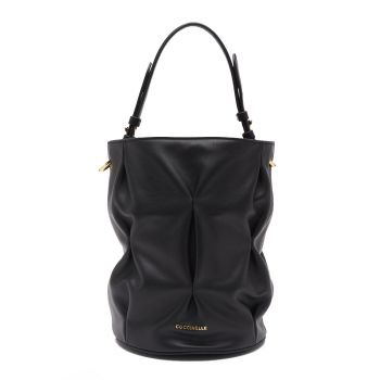 COCCINELLE Jude Goodie Line – Black Leather Bucket Bag