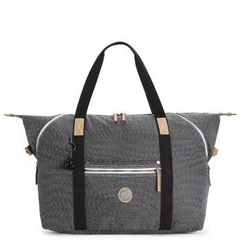 KIPLING Dark Woven Fabric Woman Travel Bag Art M Line