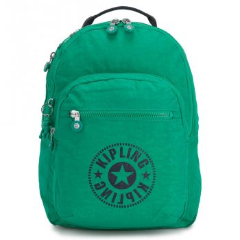 KIPLING Lively Green Fabric Woman Backpack Class Seoul Line