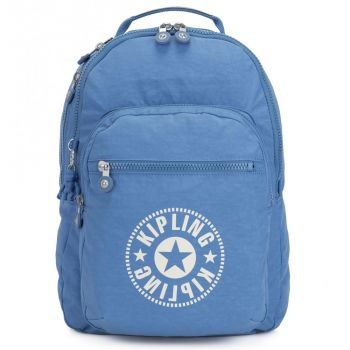 KIPLING Dynamic Blue Fabric Woman Backpack Class Seoul Line