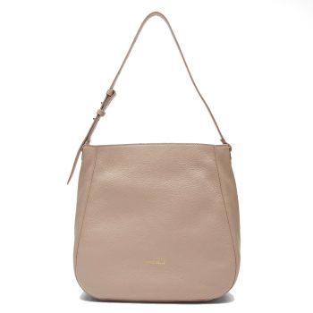 COCCINELLE Lea Line – Powder Pink Leather Hobo Bag