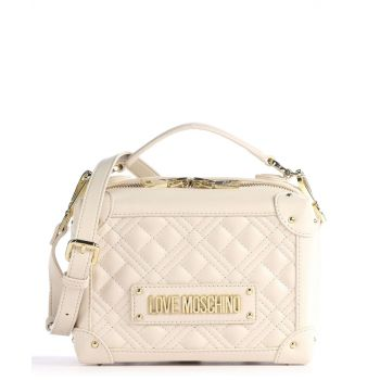 LOVE MOSCHINO Ivory Handle Bag with Quilted Effect