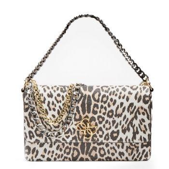 GUESS Luna Line – Leopard Shoulder Bag for Women