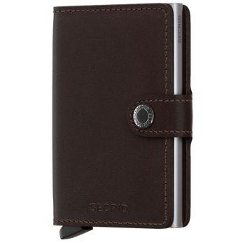 SECRID Miniwallet Original Dark Brown Leather with RFID