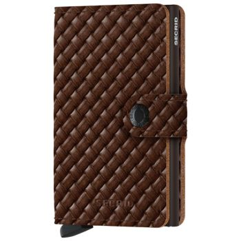 Miniwallet SECRID Basket Brown Genuine Leather