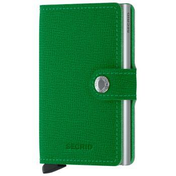 SECRID Miniwallet Crisple Apple Green Leather with RFID