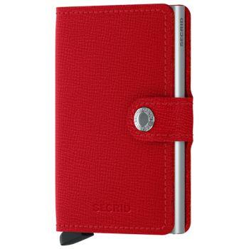 SECRID Miniwallet Crisple Red Leather with RFID