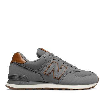 NEW BALANCE 574 Line – Nabuck Dark Grey Sneakers for Him