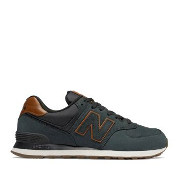NEW BALANCE 574 Line – Black Dark Navy Sneakers For Him