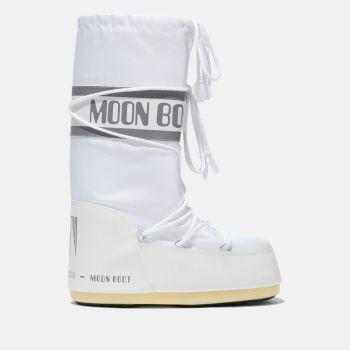 MOON BOOT Unisex Iconic White Nylon Boots