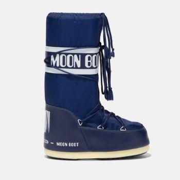 MOON BOOT Unisex Iconic Blue Nylon Boots