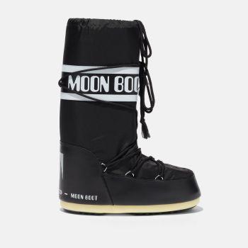 MOON BOOT Unisex Iconic Black Nylon Boots