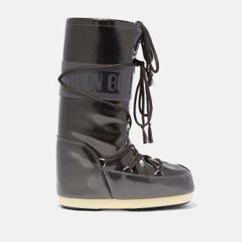 MOON BOOT Icon Black Vinyl Boots for Her