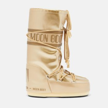 MOON BOOT Icon Gold Vinyl Boots for Her
