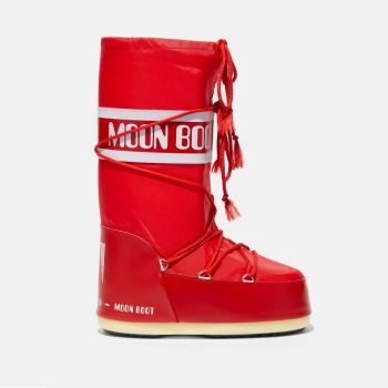 MOON BOOT Unisex Iconic Red Nylon Boots