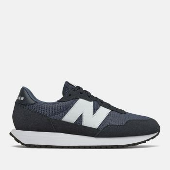 NEW BALANCE 237 Line – Vintage Indigo Suede and Mesh Sneakers for Men