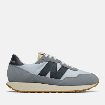 NEW BALANCE 237 Line – Reflection Blue Suede and Nylon Sneakers for Men