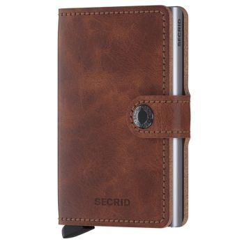 SECRID Vintage Line - Brown Leather Miniwallet with RFID
