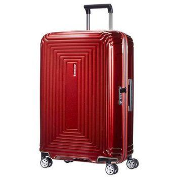 SAMSONITE Trolley Hard Shell Large Size 4 Wheels 75 cm Neopulse Metallic Red Line