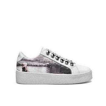 Y Not Sneakers with Napoli Castel Print for Women