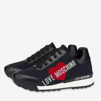LOVE MOSCHINO Crystal Line – Black Fabric Running