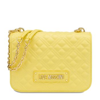 LOVE MOSCHINO New Shiny Quilted Line – Yellow Shoulder Bag