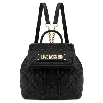LOVE MOSCHINO New Shiny Quilted Line – Black Backpack CLA0000