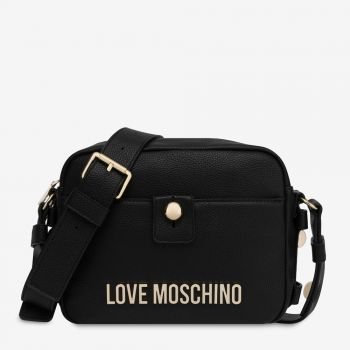 LOVE MOSCHINO Black Shoulder Bag with Studs JC4018