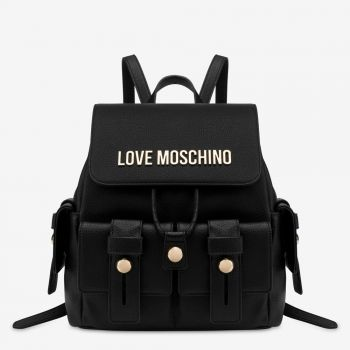 LOVE MOSCHINO Black Backpack with Stud Details JC4019