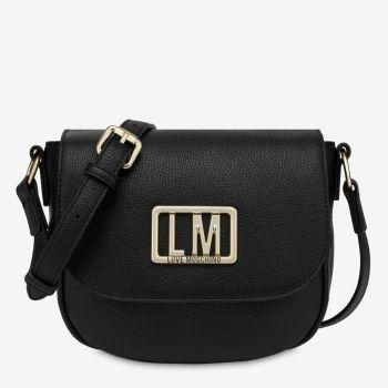 LOVE MOSCHINO Black Shoulder Bag with LM Logo JC4144