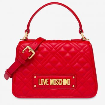 LOVE MOSCHINO Red Handle Bag with Quilted Effect