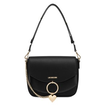 LOVE MOSCHINO Love Charm Line – Black Shoulder Bag