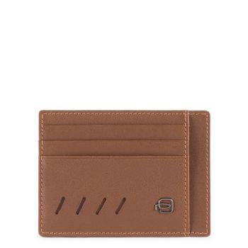 PIQUADRO Nabucco Line – Brown Leather Pocket Credit Card For Men