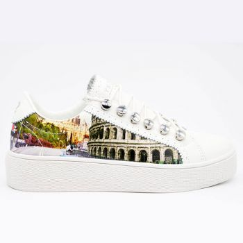 Y Not Sneakers with Roma Aurelia Print for Women